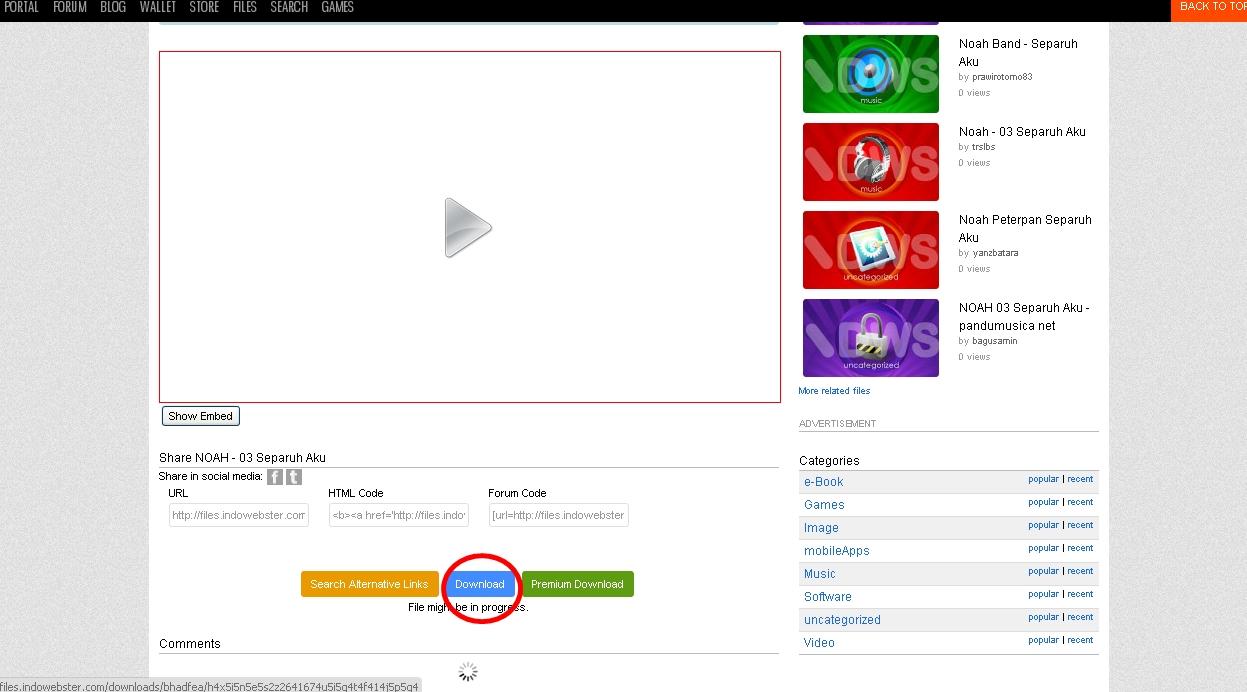 Cara Mendapatkan Link Download Dari Indowebster