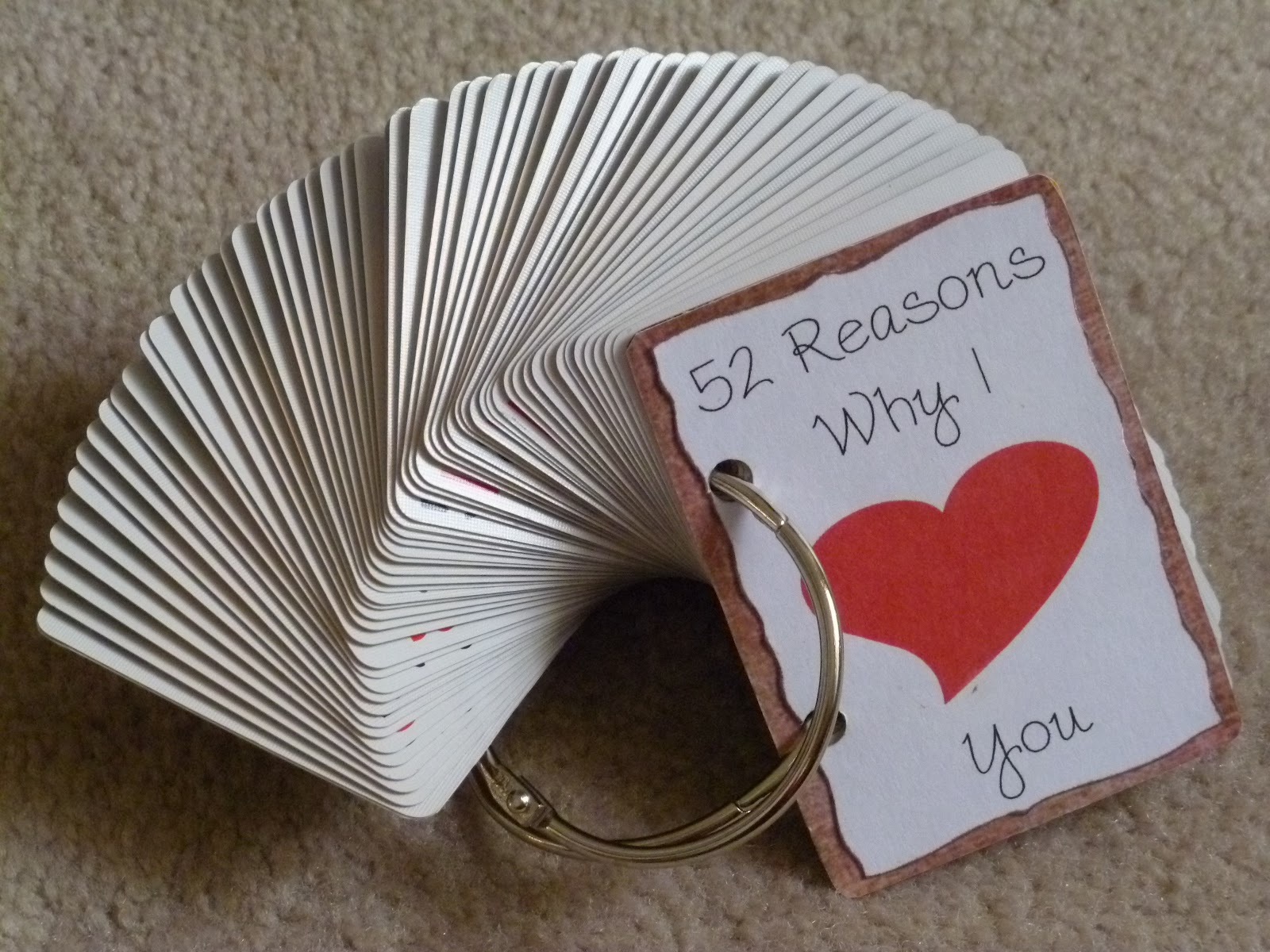 52 Reasons Why I Love You List For Mom 52 reasons.