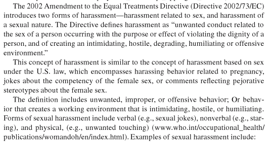 Legal Definition Of Sexual Harassment