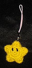 crocheted small star amigurumi