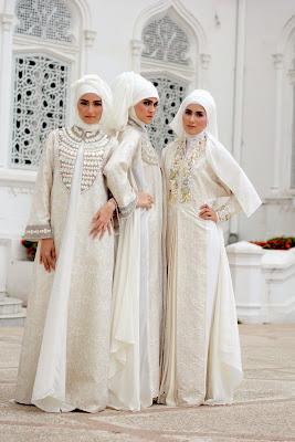 gaun pesta muslimah modern