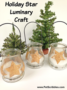 Holiday Star Luminary Craft by Pet Scribbles