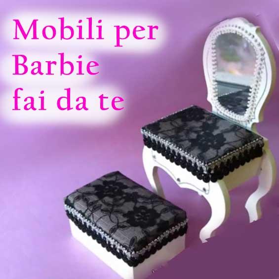 Mobili Fai Da Te Barbie Sedia E Tavolo Per Il Trucco Bambole Pictures