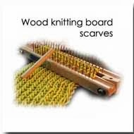 Wood Knitting board scarves