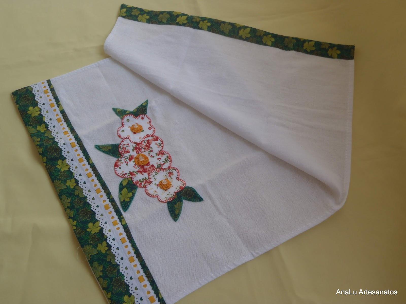 Pano de Prato Flores - Patch Aplique