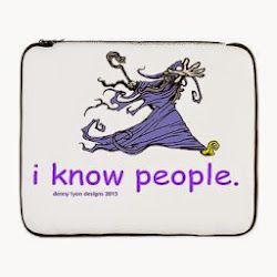 "Wizard Knows People 17"" Laptop Sleeve"