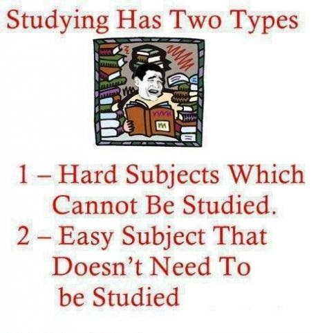 Studying has two types