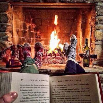 leyendo en invierno