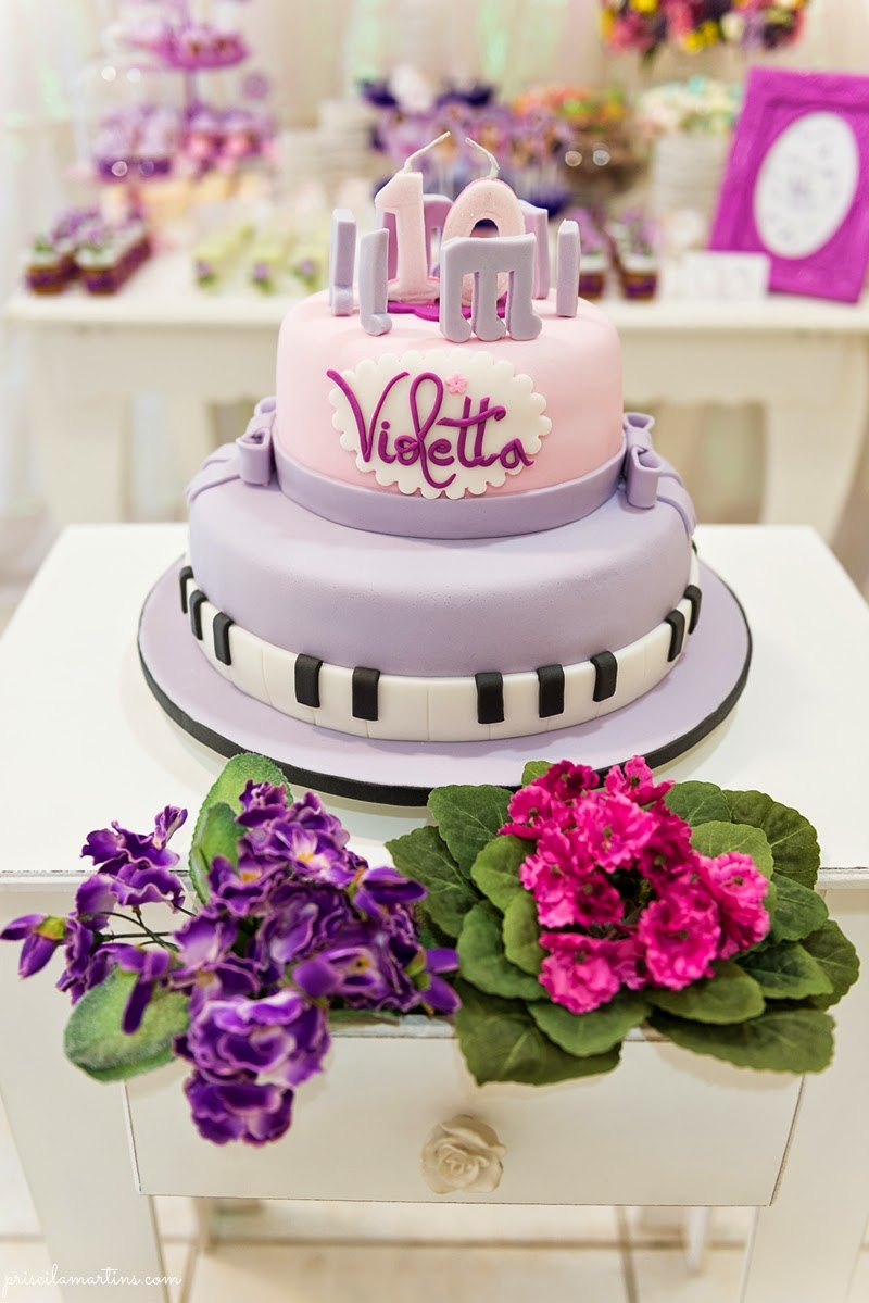 decoracao festa violeta:Violetta – Festa de aniversário