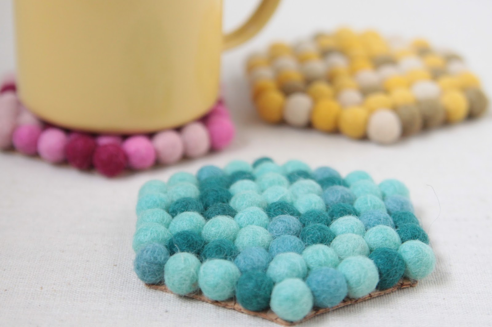 Felt Ball Coasters Tutorial // Benzie Design