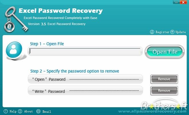Достаточно открыть файл через окно программы и пароль будет восстановлен ил