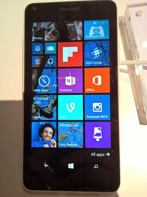 Lumia 640 startscreen
