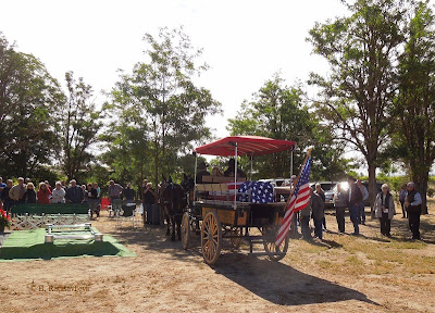 Casket Arrives at Pleasant Valley Cemetery in Mule-Driven Cart © B. Radisavljevic