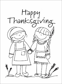 Happy Thanksgiving Day for Coloring