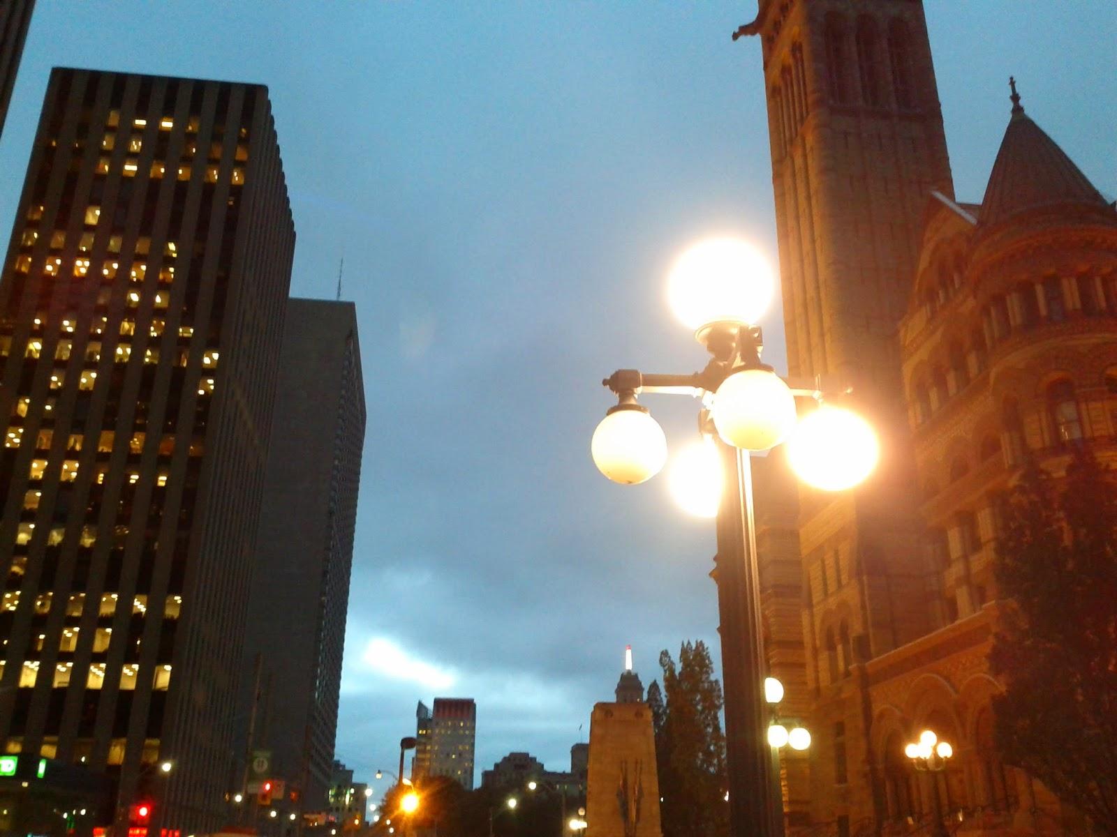 Toronto bright lights downtown