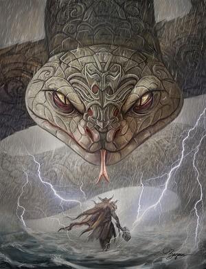 Miðgarðsormr - il serpente della terra di mezzo