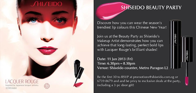 Shiseido Beauty Party Metro Paragon Singapore Lacquer Rouge