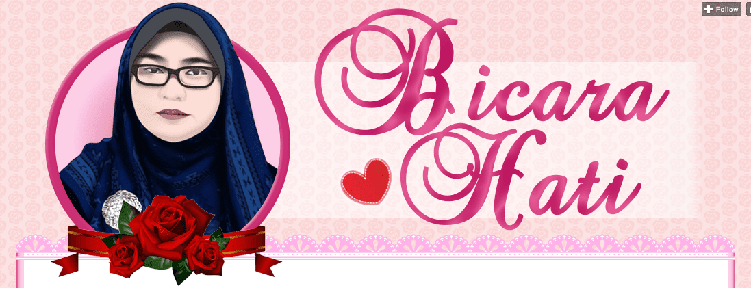 Header Blog Bicara Hati, design header murah, design blog murah, edit blog murah
