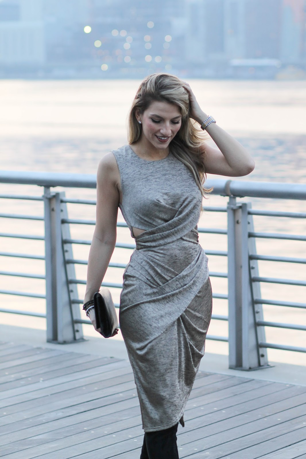 metallic midi dress, dressed for dreams