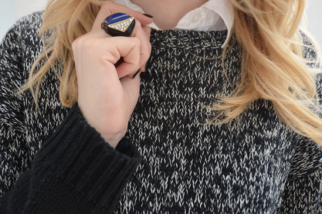 joe fresh sweater color blocking colour blocking forever 21 rings accessories preppy cool ootd personal style canada