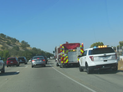 Accident on 101 Freeway northbound before Spring St., August 1, 2015, © B. Radisavljevic
