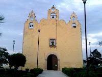 Iglesia Telchac Pueblo Yucatan Mexico