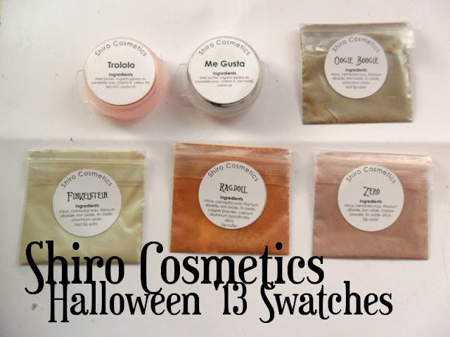 Shiro Cosmetics Halloween Swatches
