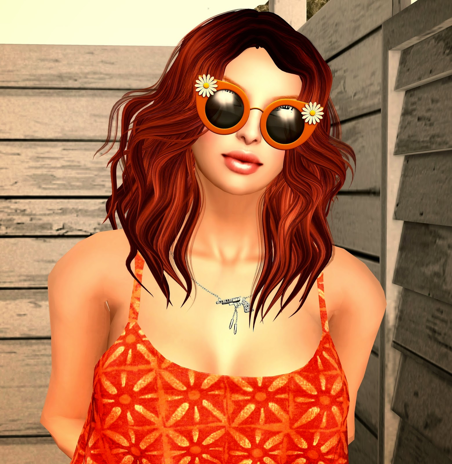 a&a shady daisies sunglasses,faboo blousey tank, cae caliber necklace