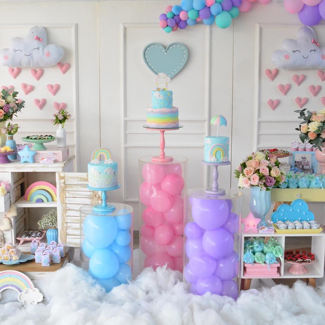 Festa de 1 ano com o tema Chuva de Amor! Guia Tudo Festa Blog de Festas dicas e ideias! # Decoração Festa Aniversario Chuva De Amor