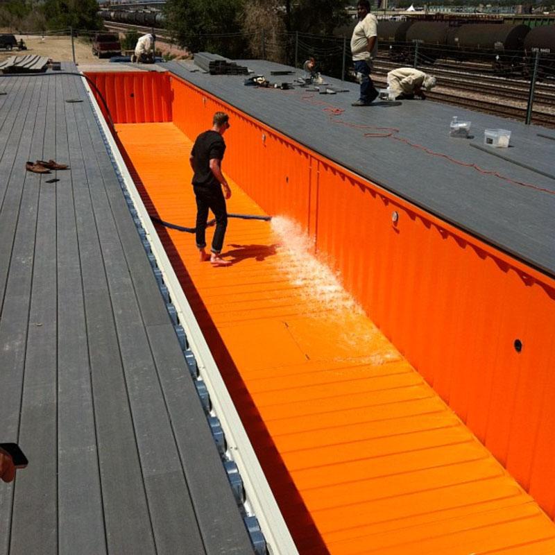 Casas contenedores piscinas construidas con contenedores marinos - Piscina container ...