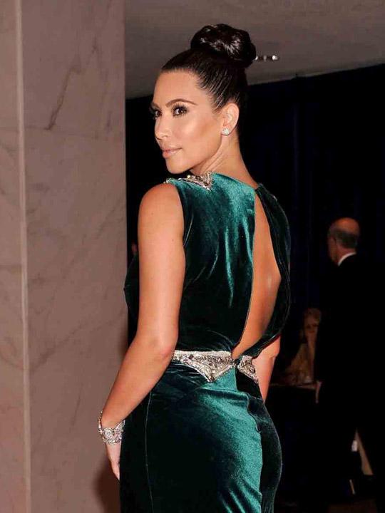 Womenhairstyles Kim Kardashian Braided Bun Updos
