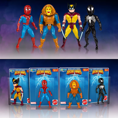 Marvel Comics Secret Wars Micro Bobbles Series 1 by Gentle Giant - Spider-Man, Wolverine, Hobgoblin & Black Suit Spider-Man Bobble Heads