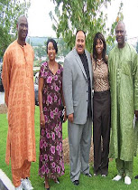 AJU WITH GAMBIAN MINISTERS.