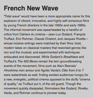 influence of the french new wave on contemporary cinema essay The gentlest of the major directors of the french new wave, françois truffaut made some of the movement's best-loved classics, from jules et jim to day for night.