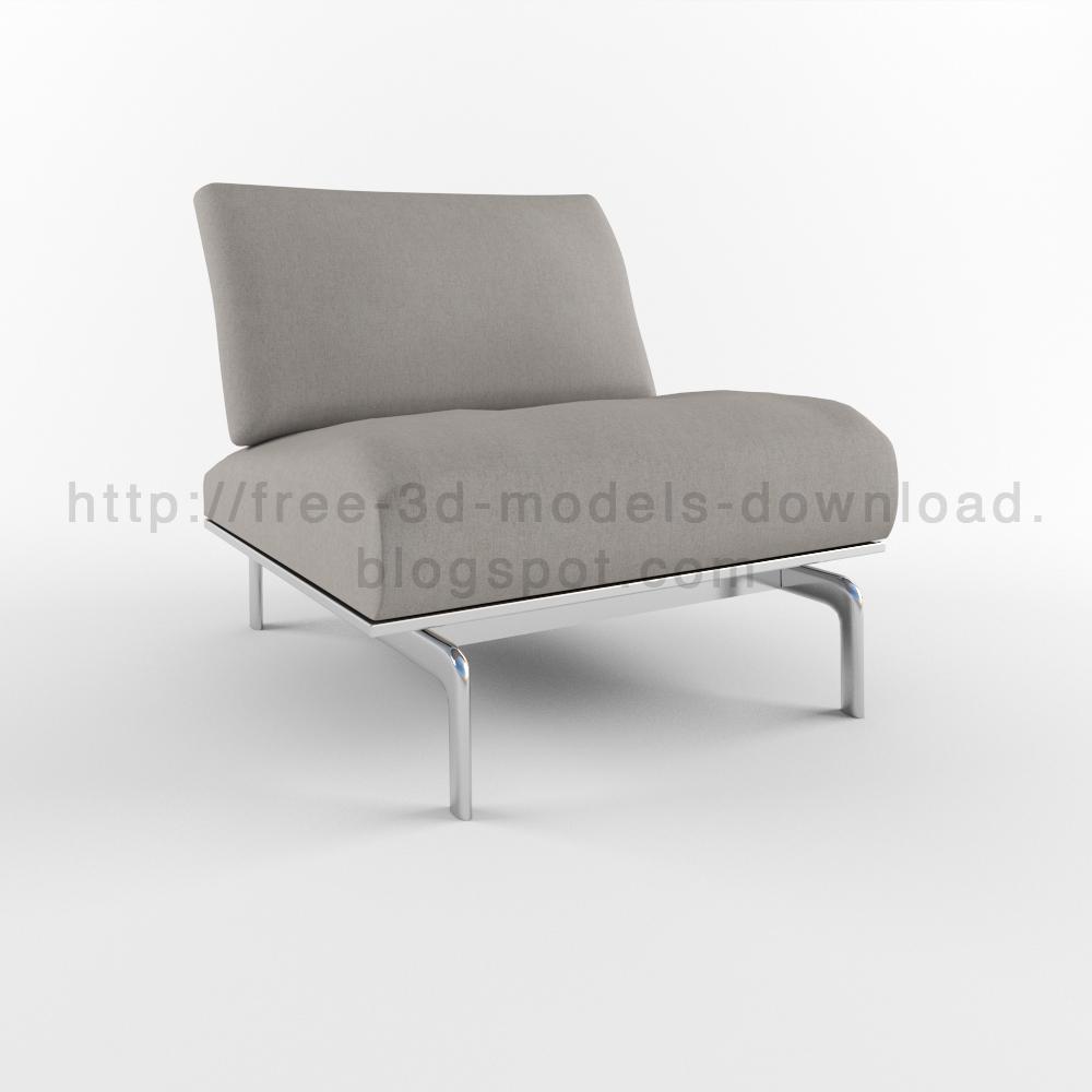 3d models b b italia armchair