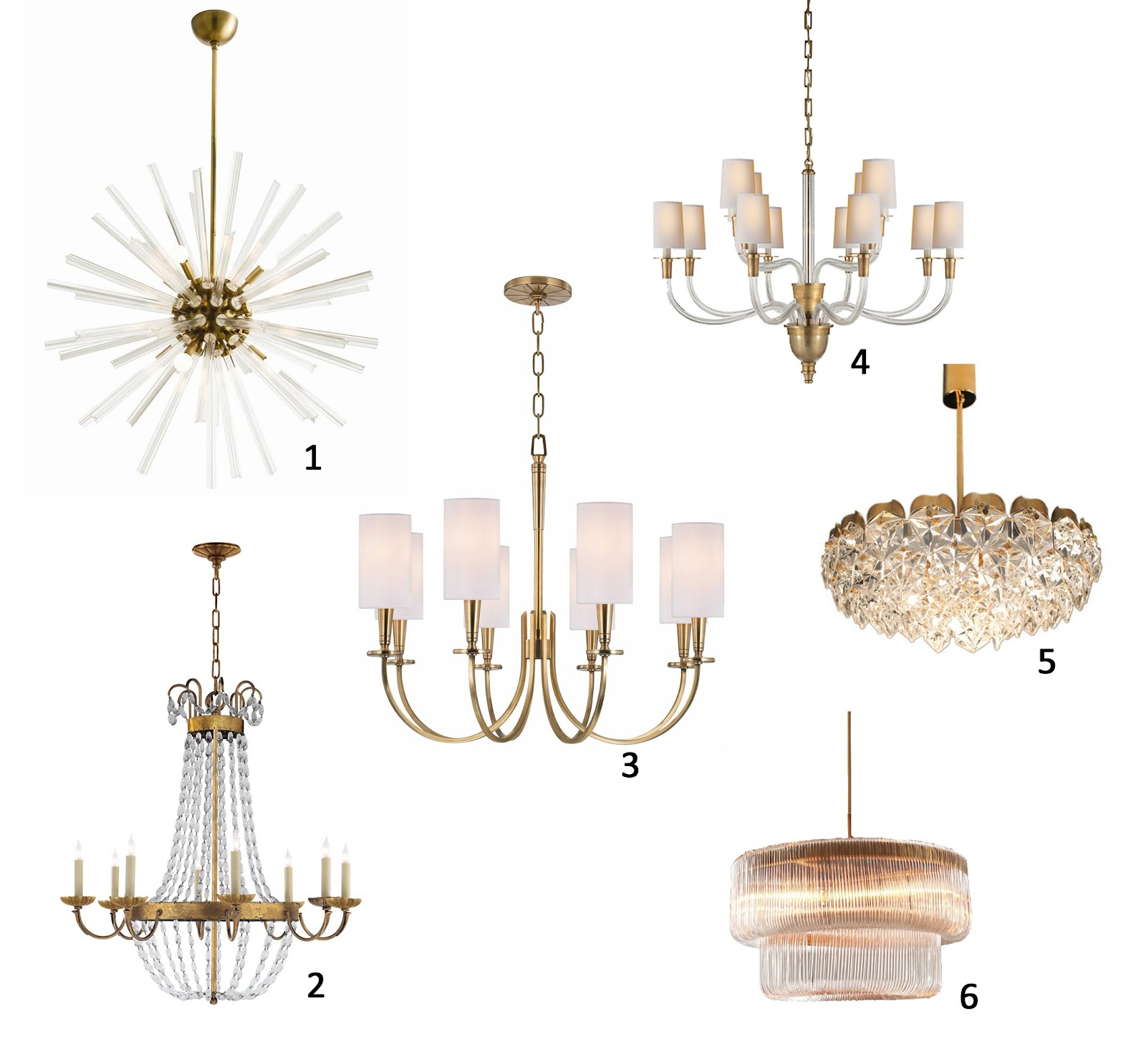 AM Dolce Vita A Roundup of My Favourite Brass Chandeliers