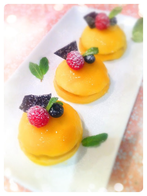 Cherie Kelly's Panna Cotta and Mango Mousse Domes