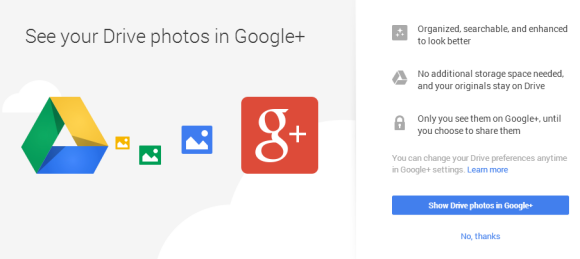 Google drive and Google+