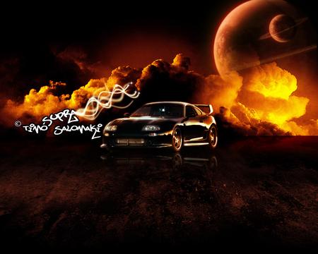 Black Toyota Supra Wallpaper Carincarwallapers