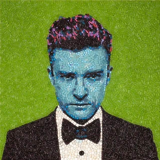 17-Justin-Timberlake-Jason-Mecier-Paintings-or-Sculptures-in-Portrait-Collage-www-designstack-co