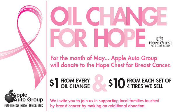 Oil Change for Hope at Apple Auto Group