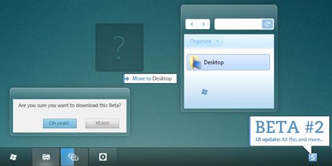 PURE Windows beta 2 Theme