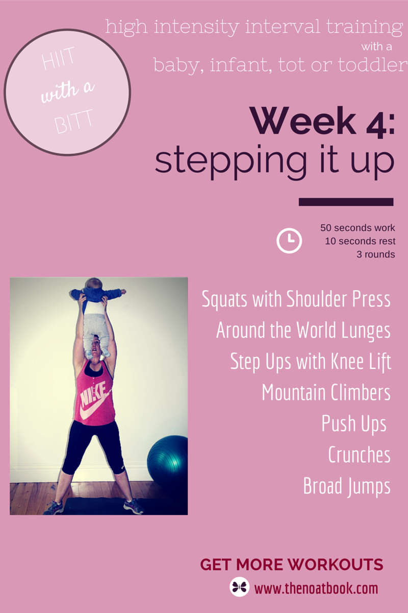 Working out with your baby HIIT with a BITT Workout Week 4