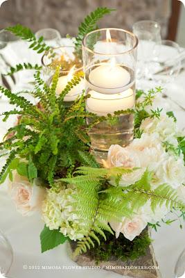 letnia dekoracja stołu DIY  kwiaty świece Eco manufaktura