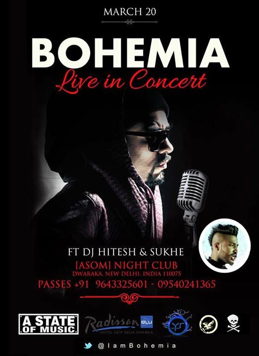 BOHEMIA Live in Concert ft Dj Hitesh & Sukhe (ASOM) - March 20 2015