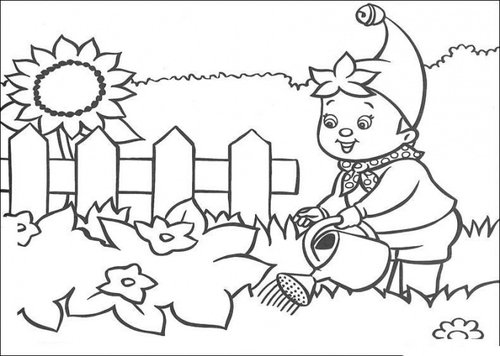garden flower colouring pages for children - Kids Colouring Templates