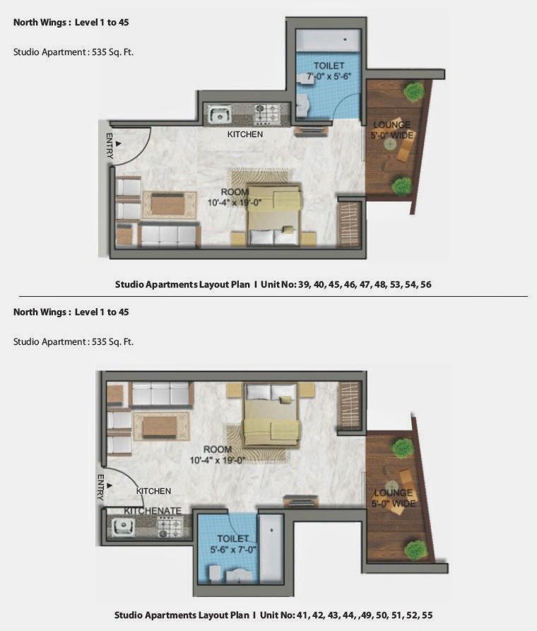 North wings floor plan