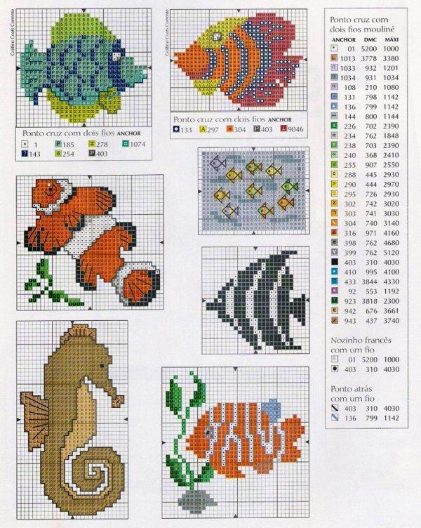 Схема для вышивки морская тематика 43