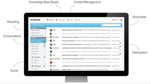 Reamaze encuentra las redes sociales en una sola aplicación - www.dominioblogger.com
