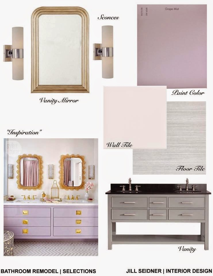 Jill seidner interior design concept boards for Bathroom interior design concepts